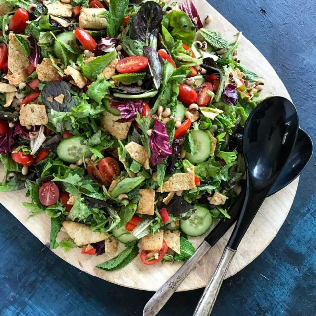 Friday Fattoush! This simple minuteready Lebanese salad is chock fullhellip